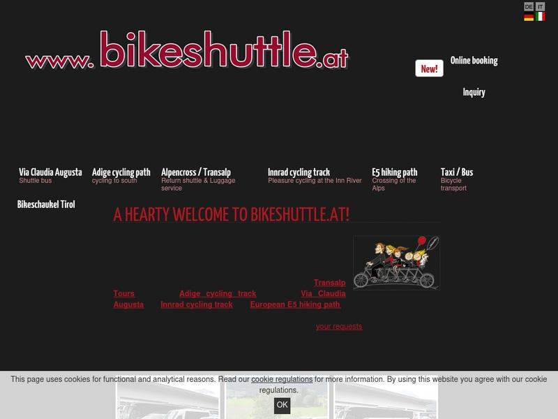 Screenshot von http://www.bikeshuttle.at